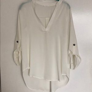 Lush Tops - Lush white/cream 3/4 sleeve top